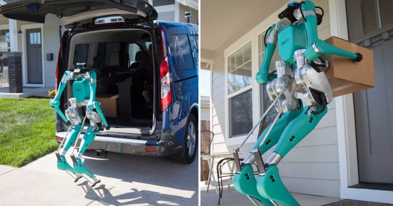 VIRAL ZONE 24: Meet Digit A Smart Little Two-Legged Robot & Self-Driving  Vehicle Delivery
