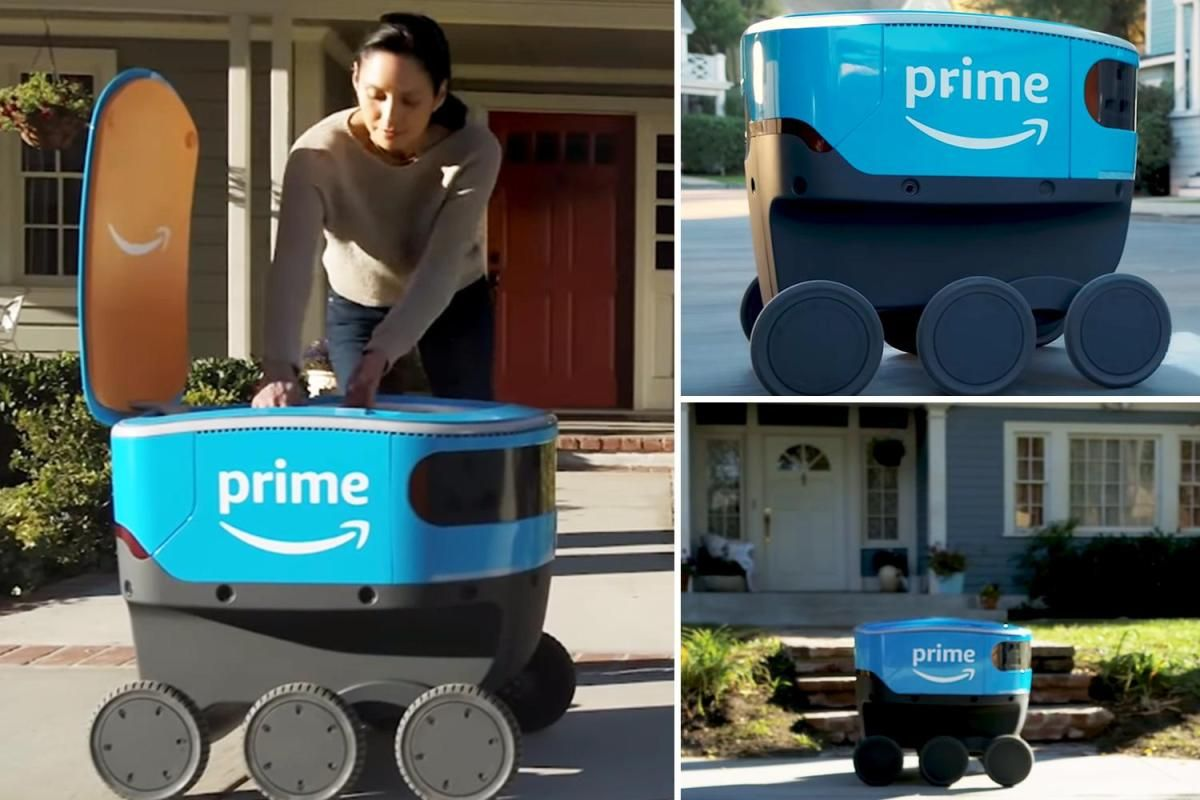 Amazon Scout is a self-driving delivery ROBOT that carries packages to your  house | Delivery robot, Self driving, Delivery