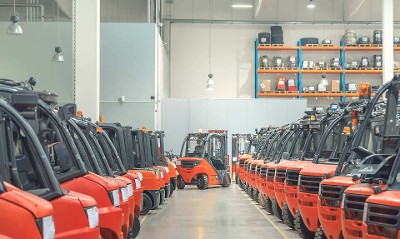 Forklifts from a P3 Park are conquering the world