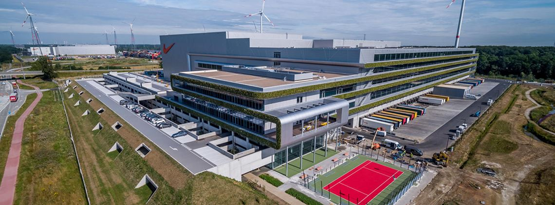 The new facility will be powered by wind, solar, geothermal, hydroelectric and biomass energy. © Nike